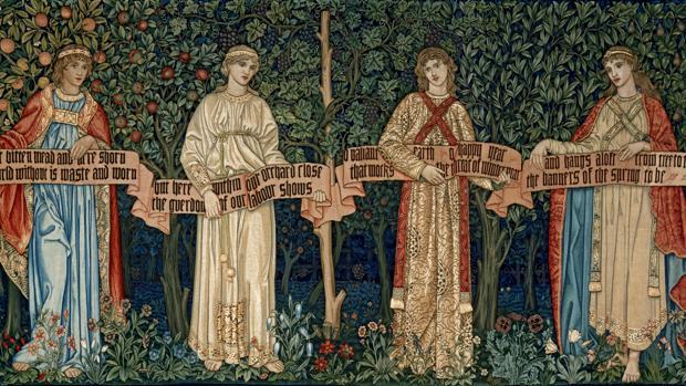 Tapiz «Los frutales» (o Las estaciones), de William Morris y John Dearle