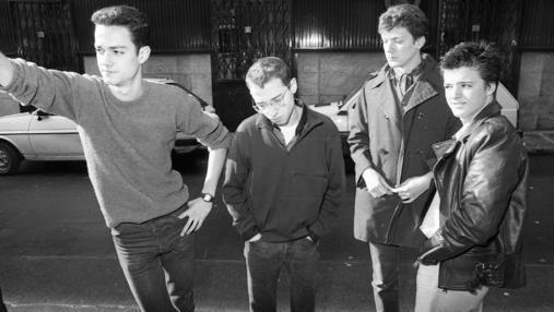 Luis García, Ricardo Moreno, Luis Martín y Coque Malla