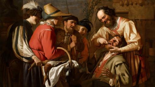 «El sacamuelas» de Gerrit van Honthorst (1628)