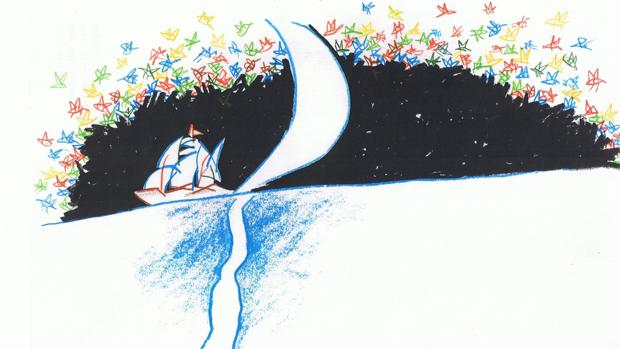 Ilustración fue de Alfredo González para una edición de «Poeta en Nueva York», de Federico García Lorca