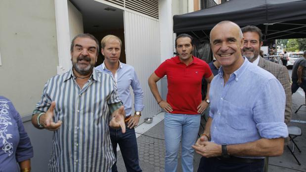 Gervasio Iglesias, Alberto López, Alfonso Sánchez, Antonio Muñoz y Jesús Rojas