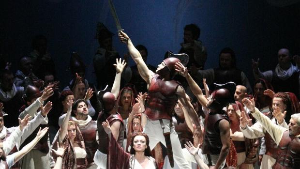 Una de la escenas de la opera 'Norma'. :