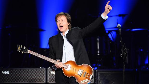 Paul McCartney, durante un concierto el año pasado en París
