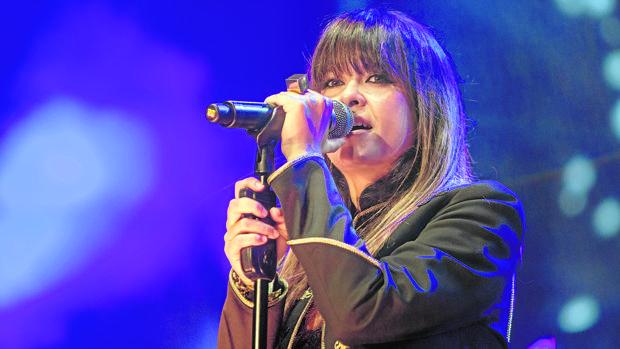 La cantante malagueña durante un concierto