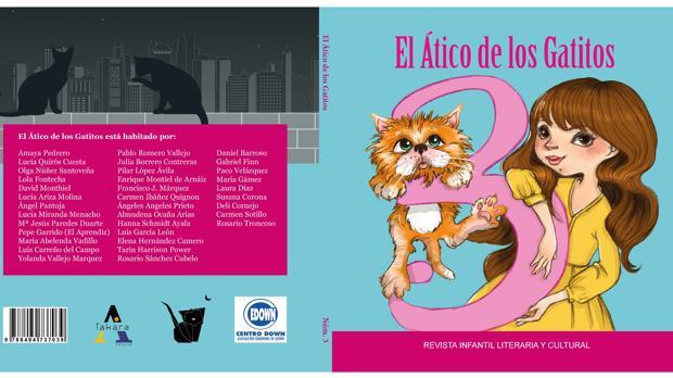 Portada y contraportada de 'El ático de los gatitos', que encara su tercera edición.