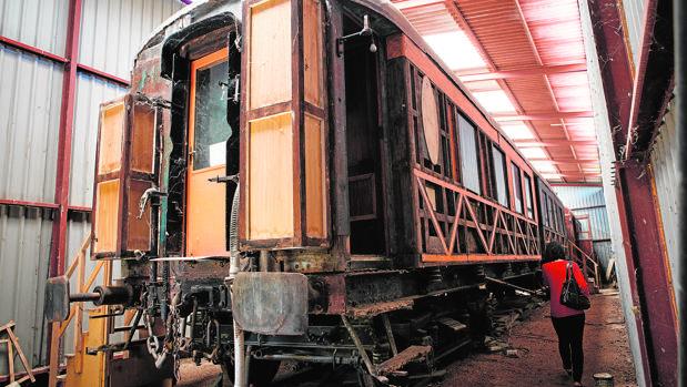 Estado actual del vagón, toda una «joya» ferroviaria