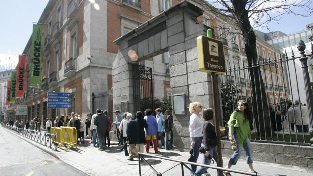 Entrada del Museo Thyssen en Madrid