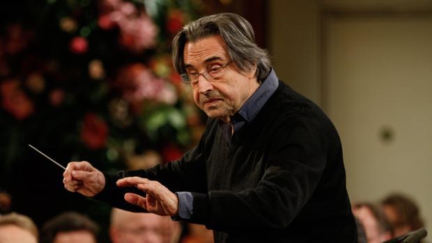 Riccardo Muti, durante un ensayo del concierto en el Musikverein