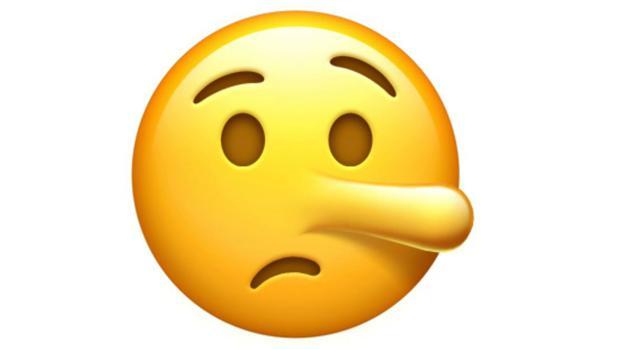 A los emojis también les crece la nariz