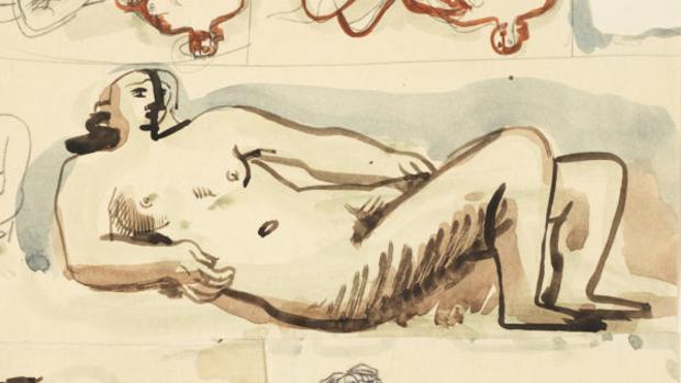 Una de las figuras de la hoja hallada en el tesoro de Gurlitt