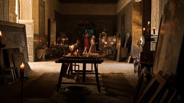 El estudio de Teresa Pinelo, localizado en la Casa Pilatos