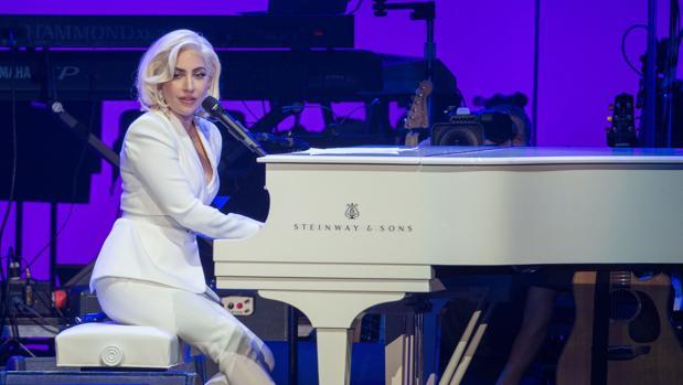 Lady Gaga, durante una actuación benéfica en Estados Unidos