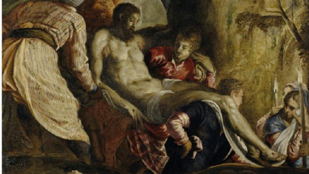 Fragmento de «La Deposición de Cristo», de Tintoretto