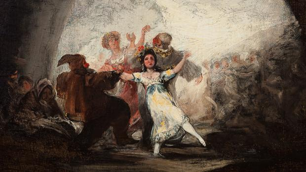 «Baile de máscaras», una de las obras del pintor aragonés