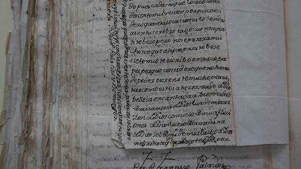 Uno de los documentos de la confesión de Francisco Xavier Palacios