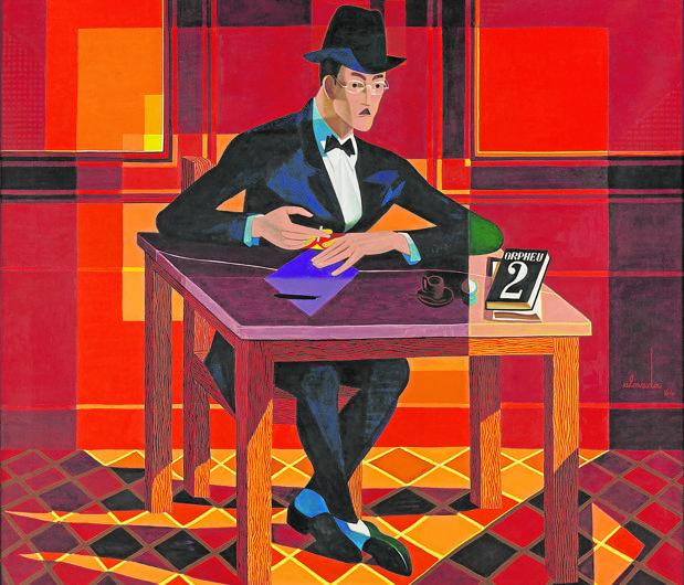 «Retrato de Fernando Pessoa» (1964), de José de Almada Negreiros