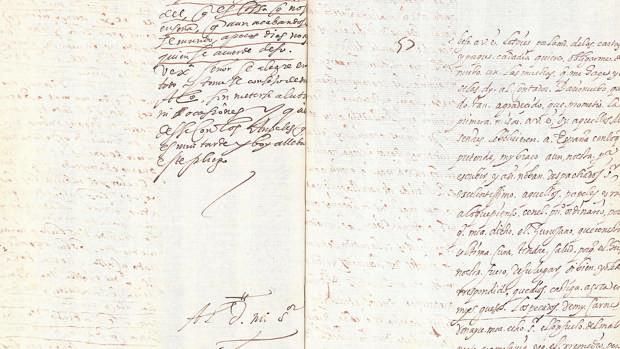 Copia de la carta de Lope en la que criticaba a Cervantes