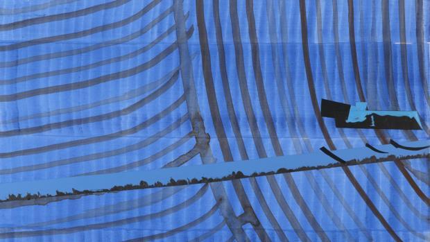 Detalle de uno de los cuadros presentes en la muestra «De desvelos»