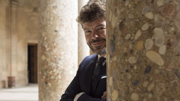 Pablo Heras-Casado, en el Palacio de Carlos V de Granada