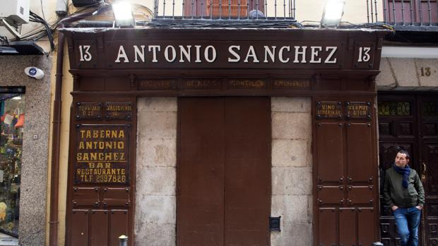 Taberna Antonio Sánchez, en el barrio de Lavapiés