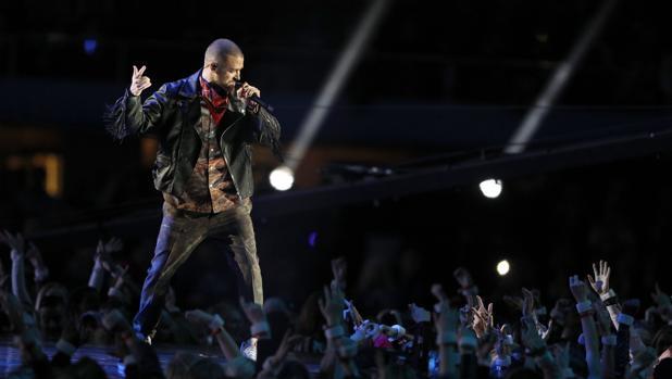 Justin Timberlake, en el intermedio de la LI Super Bowl