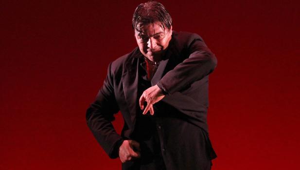 El bailaor Antonio Canales en una edición pasada del Festival de Jerez.
