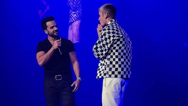 Luis Fonsi, en el concierto de Justin Bieber en Puerto Rico