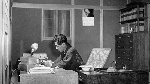 El escritor japonés de novelas policiacas Seishi Yokomizo