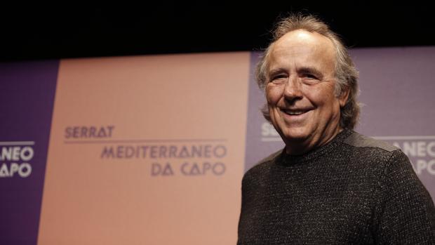 Joan Manuel Serrat, durante la presentación de su gira «Mediterráneo da capo»