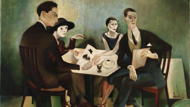 «Autorretrato en un grupo», de Almada Negreiros