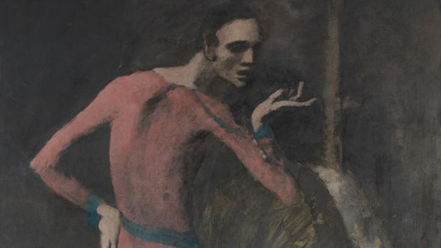 Detalle de «The Actor», de Picasso