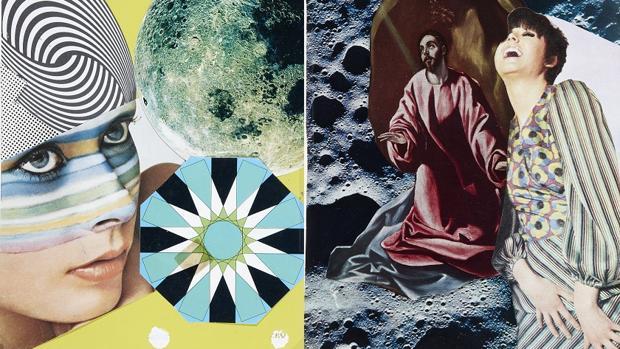 Dos de los «collages» de Val del Omar en Madrid