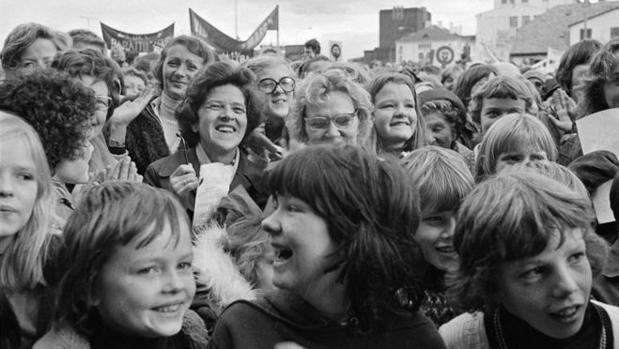 La mítica huelga de las islandesas en Reikiavik en octubre de 1975