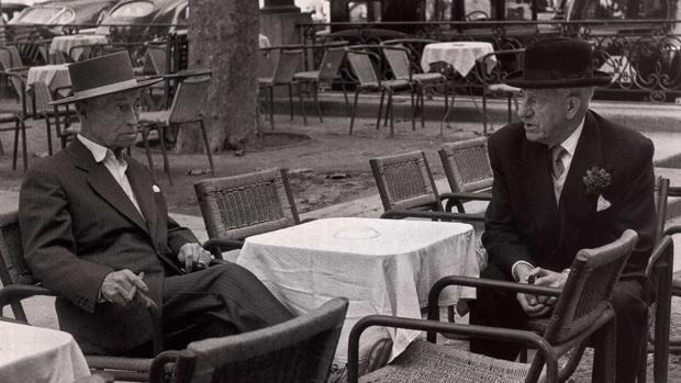 Rafael el Gallo, con Ortega y Gasset