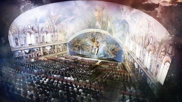 Recreación del espectáculo, que se estrena mañana en el Auditorium Conciliazione, en Roma