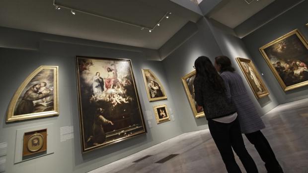 Reconstrucción en el Bellas Artes del ciclo que realizó el pintor para el convento de Capuchinos