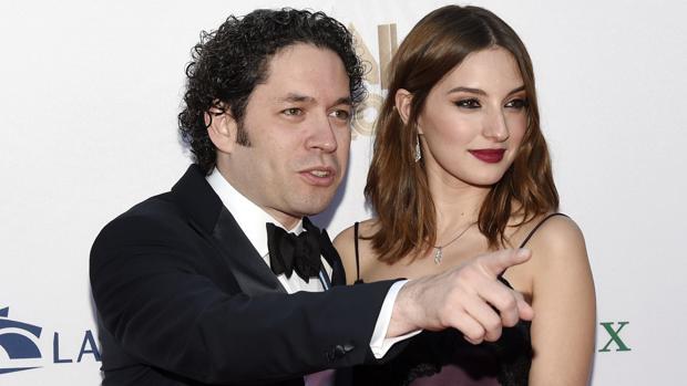 El músico venezolano Gustavo Dudamel y su mujer, la actriz española María Valverde