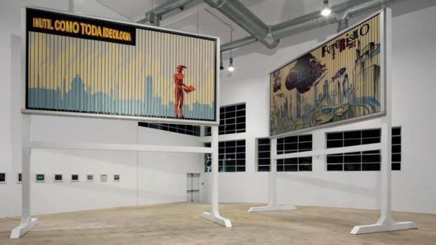 «Limpio, brillante, inútil» (2017) y «Passato, Presente, Futurismo» (2017), de Carlos Garaicoa