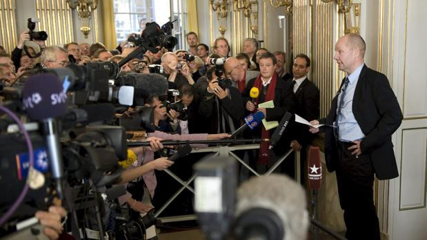 Peter Englund anuncia el Nobel de Literatura en 2009