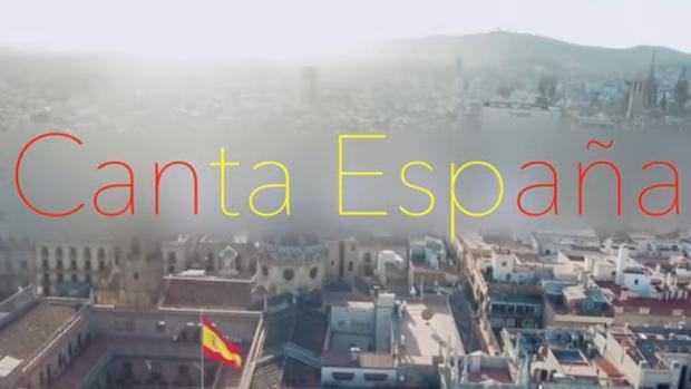 Imagen del videoclip de «Canta España», la versión del himno español de Alejandro Abad
