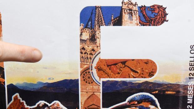 Detalle de la catedral de Burgos en el sello que Correos dedica a León