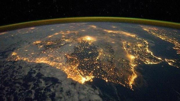 Imagen de la Península Ibérica tomada por Observatorio Terrestre de la Nasa