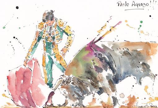 Pablo Aguado en el dibujo de Humberto Parra