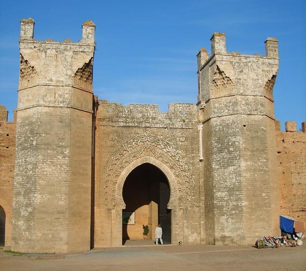 Entrada a la necrópolis de Chellah, en Rabat