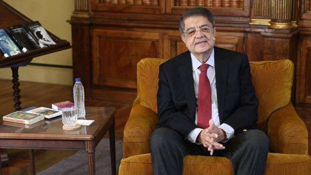 Sergio Ramírez, esta mañana en la Biblioteca Nacional de España