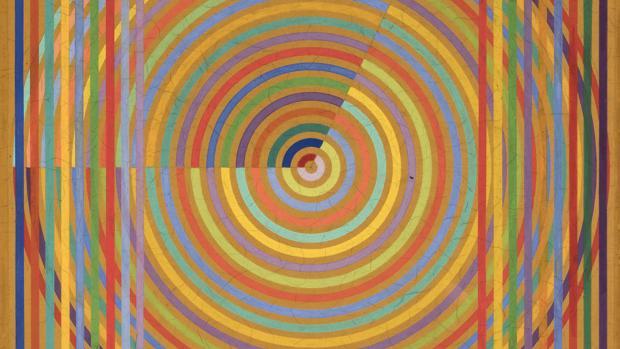 Detalle de «El reloj» (1966), gouache sobre tabla