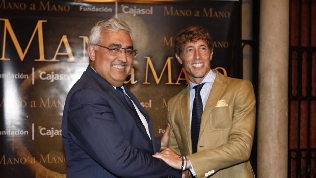 Antonio Ramírez y Manuel Escribano, en el Mano a mano de la Fundación Cajasol