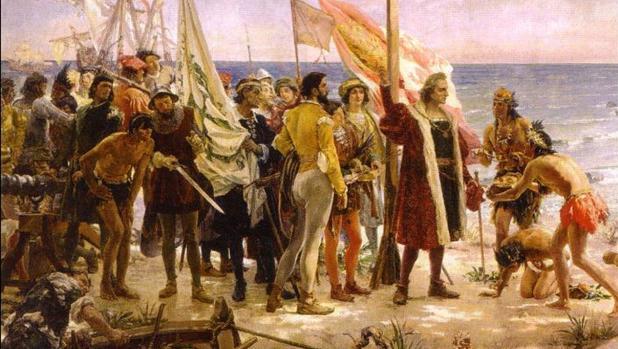 La llegada de Colón a las América