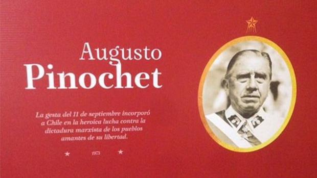 Imagen de Pinochet expuesta en «Hijos de la Libertad: 200 años de Independencia»