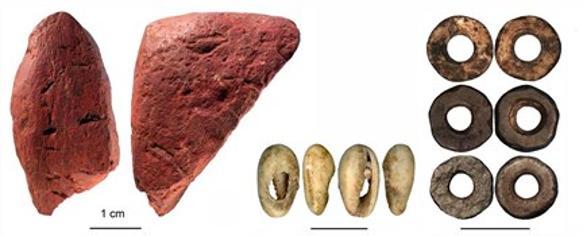 Algunos de los restos hallados en Panga ya Saidi